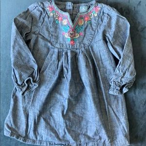 Soft embroidered baby gap dress